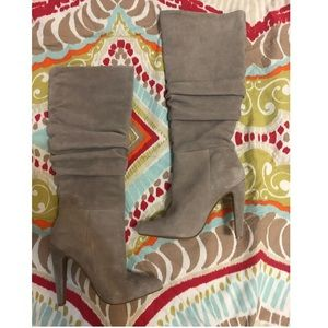 Steve Madden Carrie Grey Suede tall boots